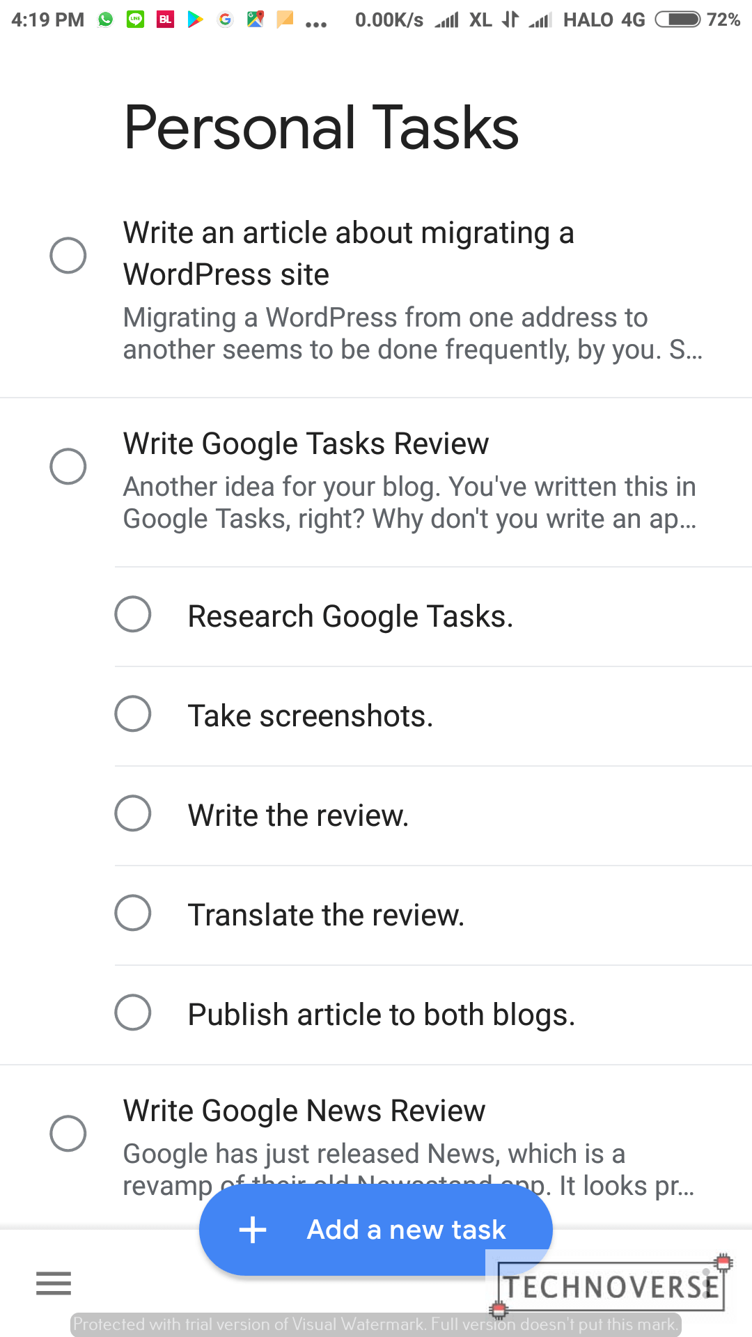 Google Tasks Review - Daftar Tugas